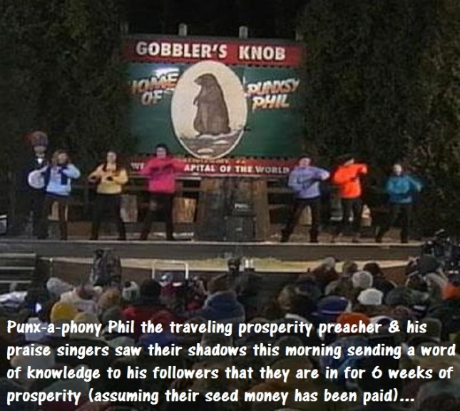 Punx-a-phony Phil the Traveling Prosperity Preacher