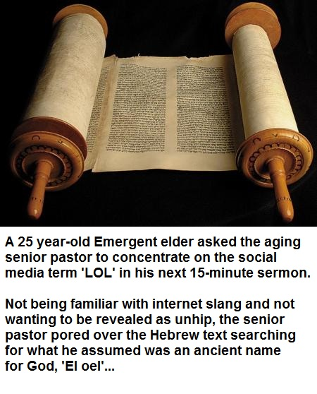 LOL at the Emergent Church (Humor)