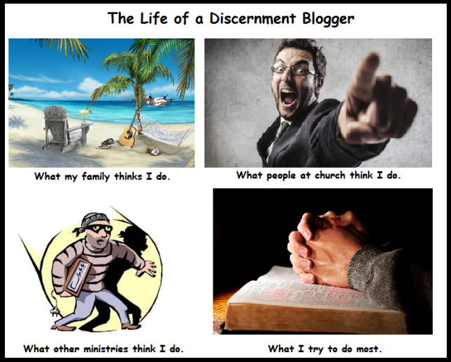 The Life of a Discernment Blogger (Humor)