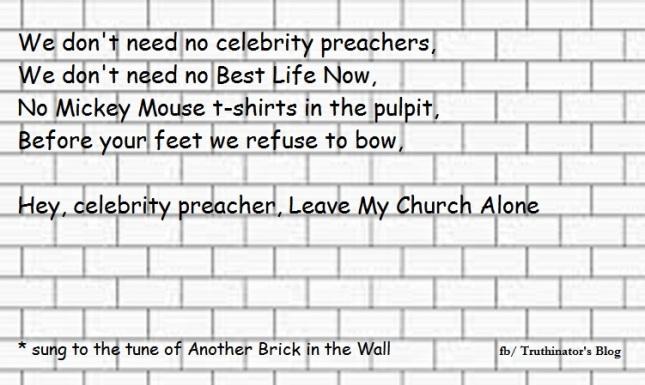 Celebrity Preacher, Leave My Church Alone
